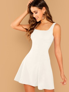 Fit & Flare Solid Dress