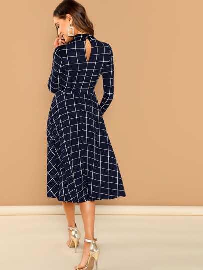 Платье  Тёмно-синий цвета