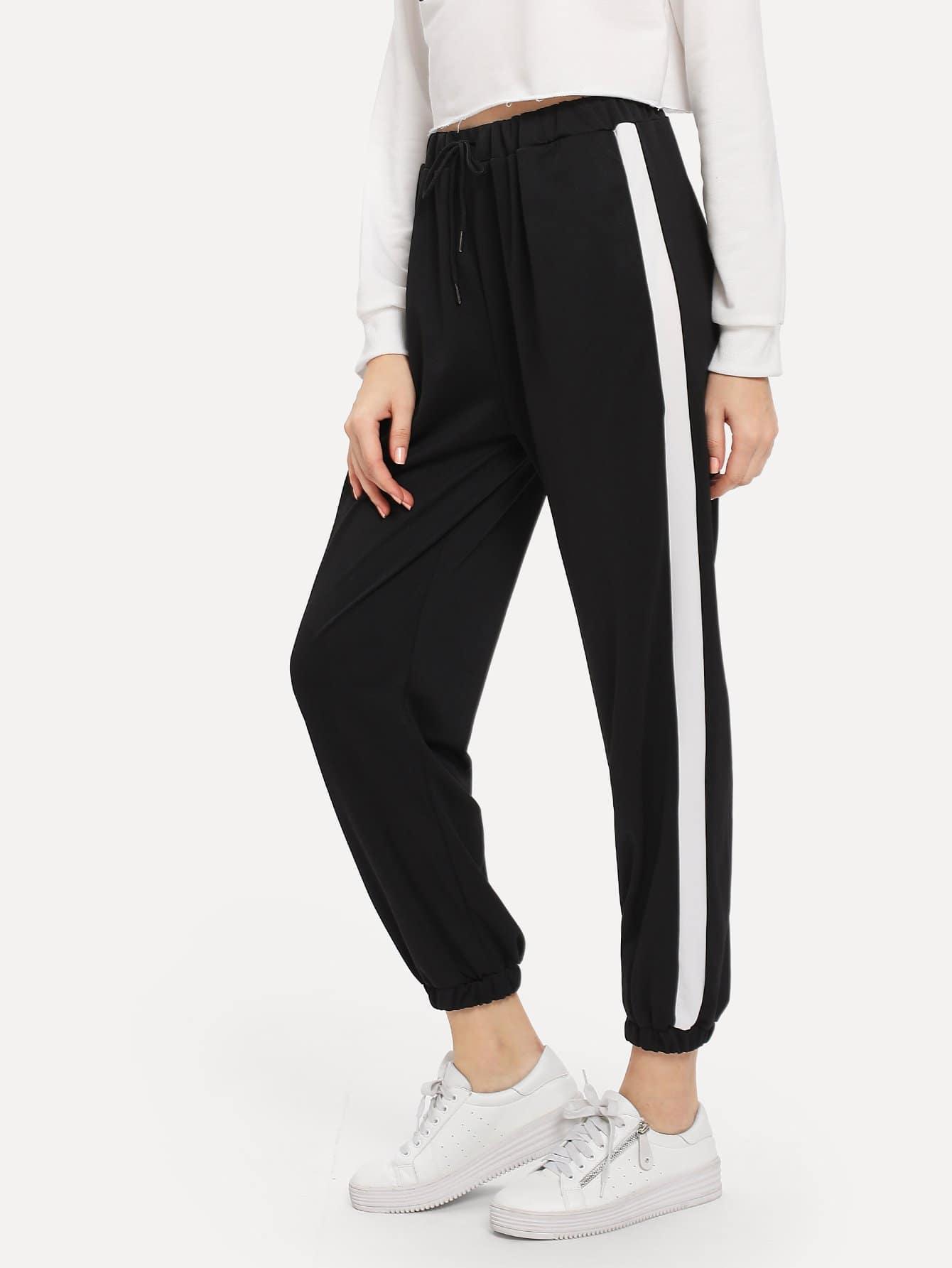 Высокая Талия брюки бортовых полосатах, Kate B, SheIn  - купить со скидкой