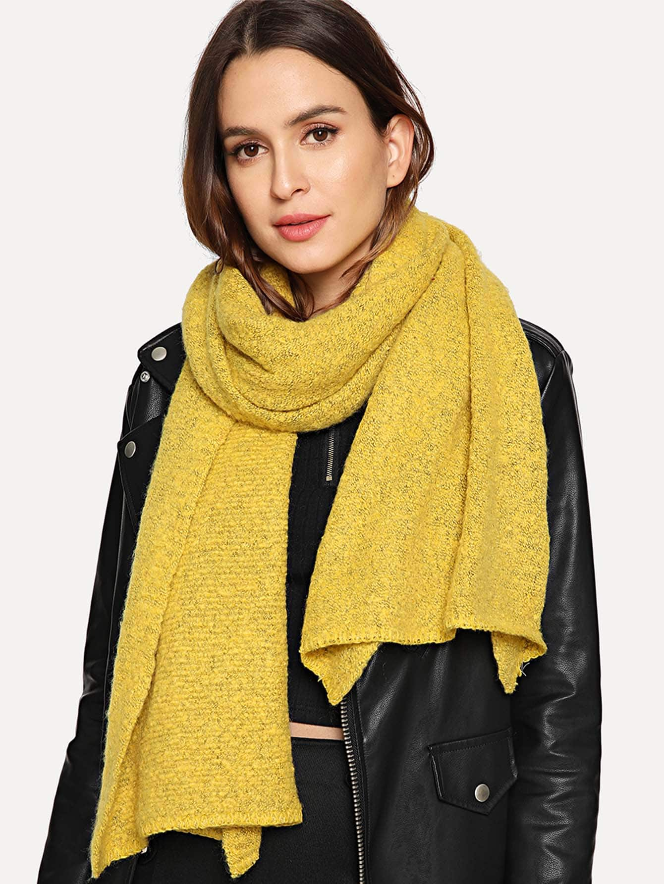 Купить Простой магкий шарф, null, SheIn