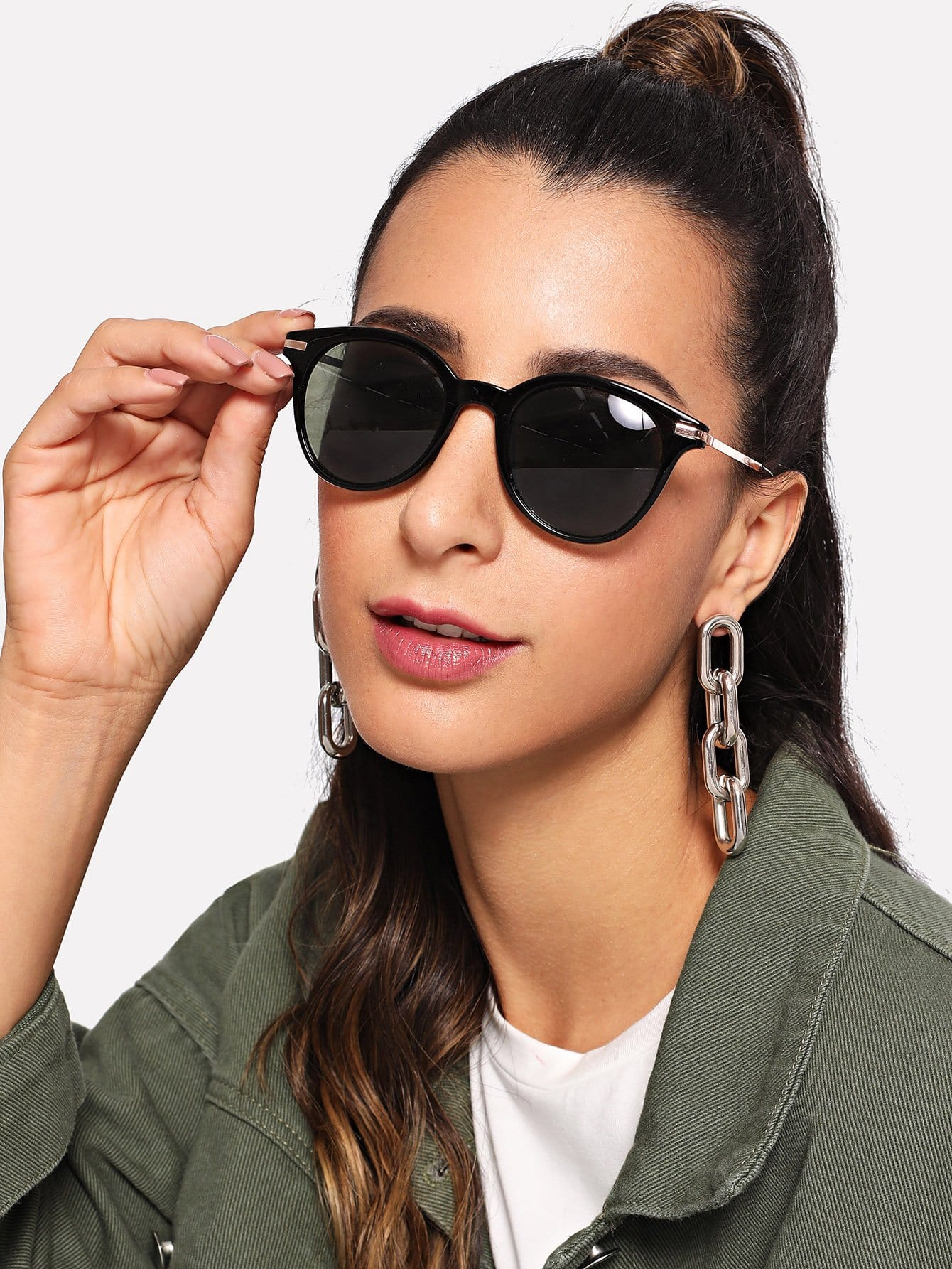 Черные Повседневный Солнечные очки от SheIn