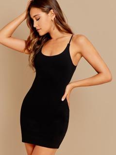 Sleeveless Cami Ponte Knit Bodycon Mini Dress