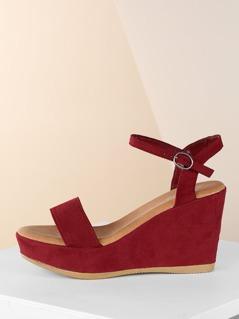 Ankle Strap Platform Open Toe Wedge Sandals