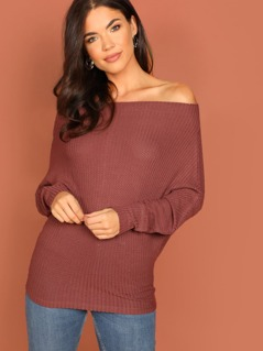 Batwing Sleeve Off Shoulder Top
