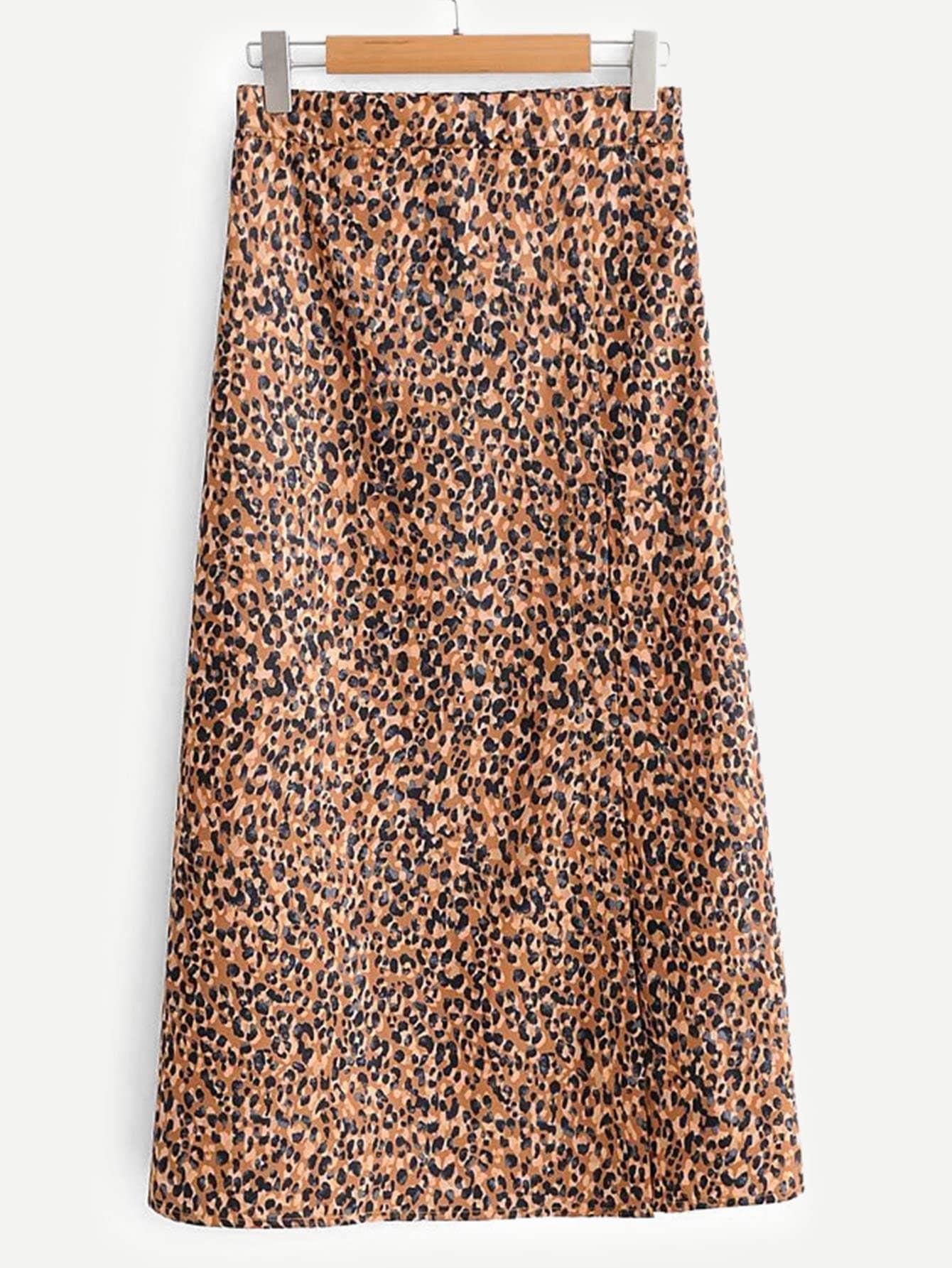 Купить Леопардовая юбка, null, SheIn