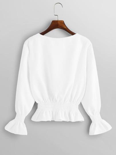 Блузка  Белый цвета