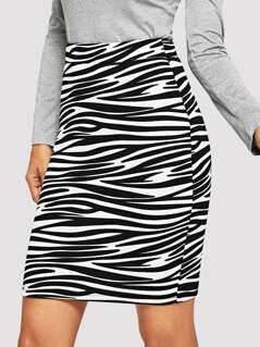 Animal Print Bodycon Skirt