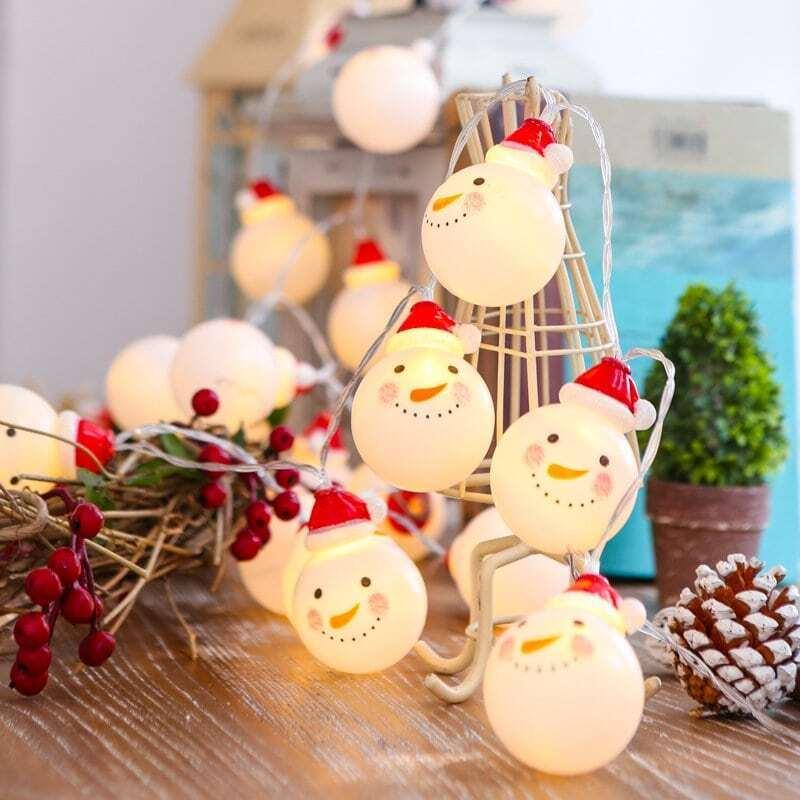 Christmas 3M Snowman String Light 12V