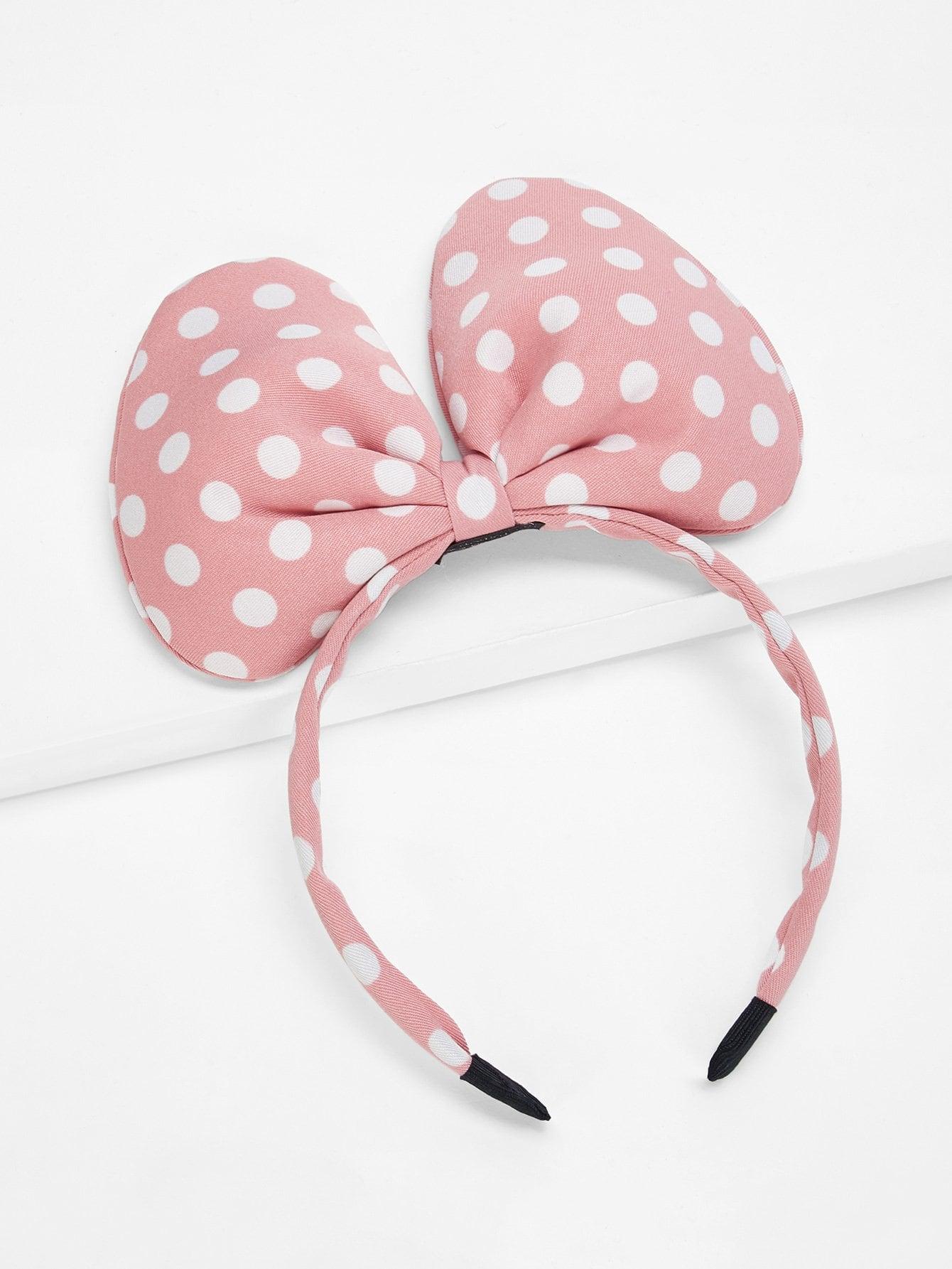 Купить Ободок для волос и с рисунками точки польки и с украшением бабочки для девочки, null, SheIn