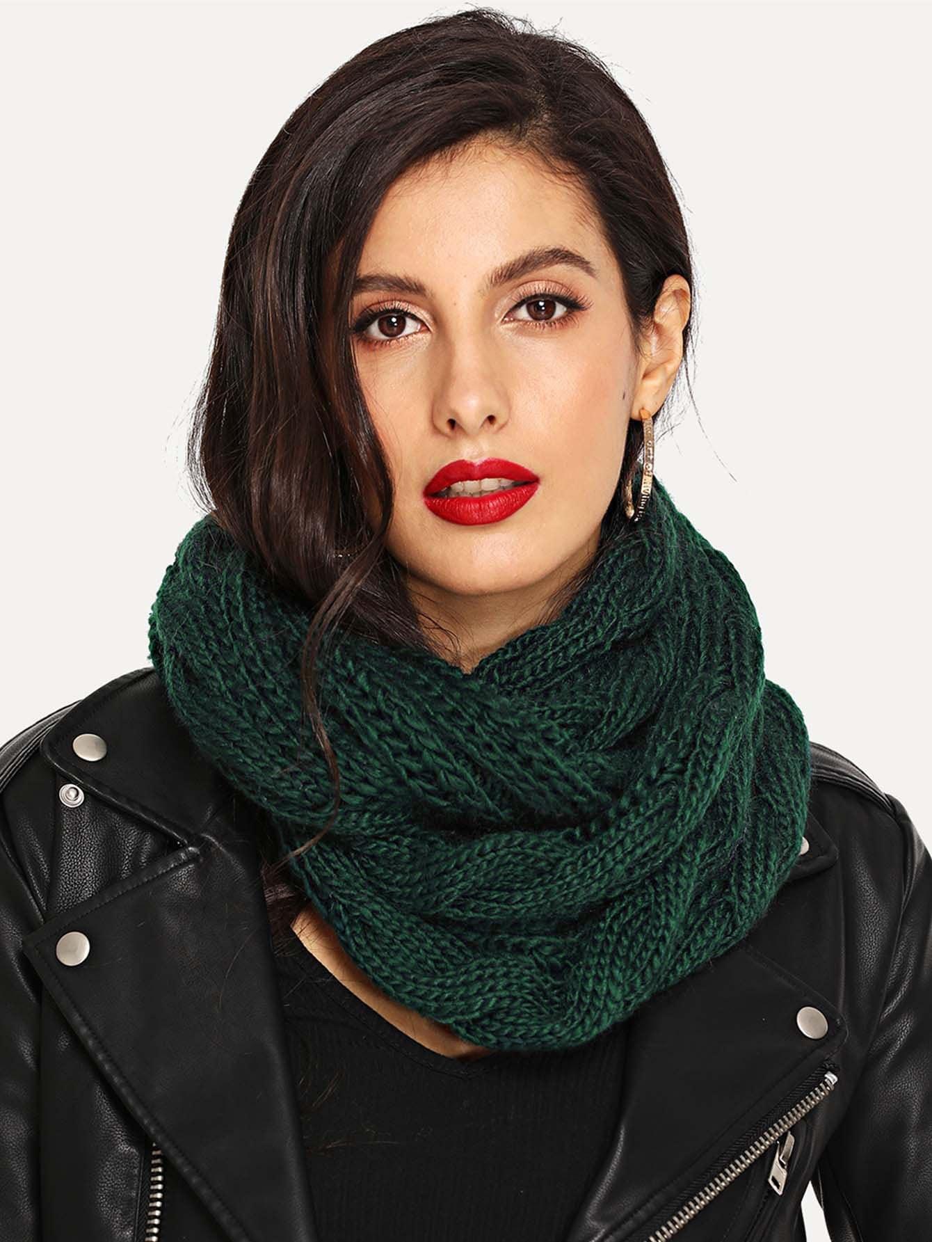 Купить Вязаный бесконечный шарф, null, SheIn