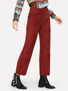 Straight Leg Corduroy Pants