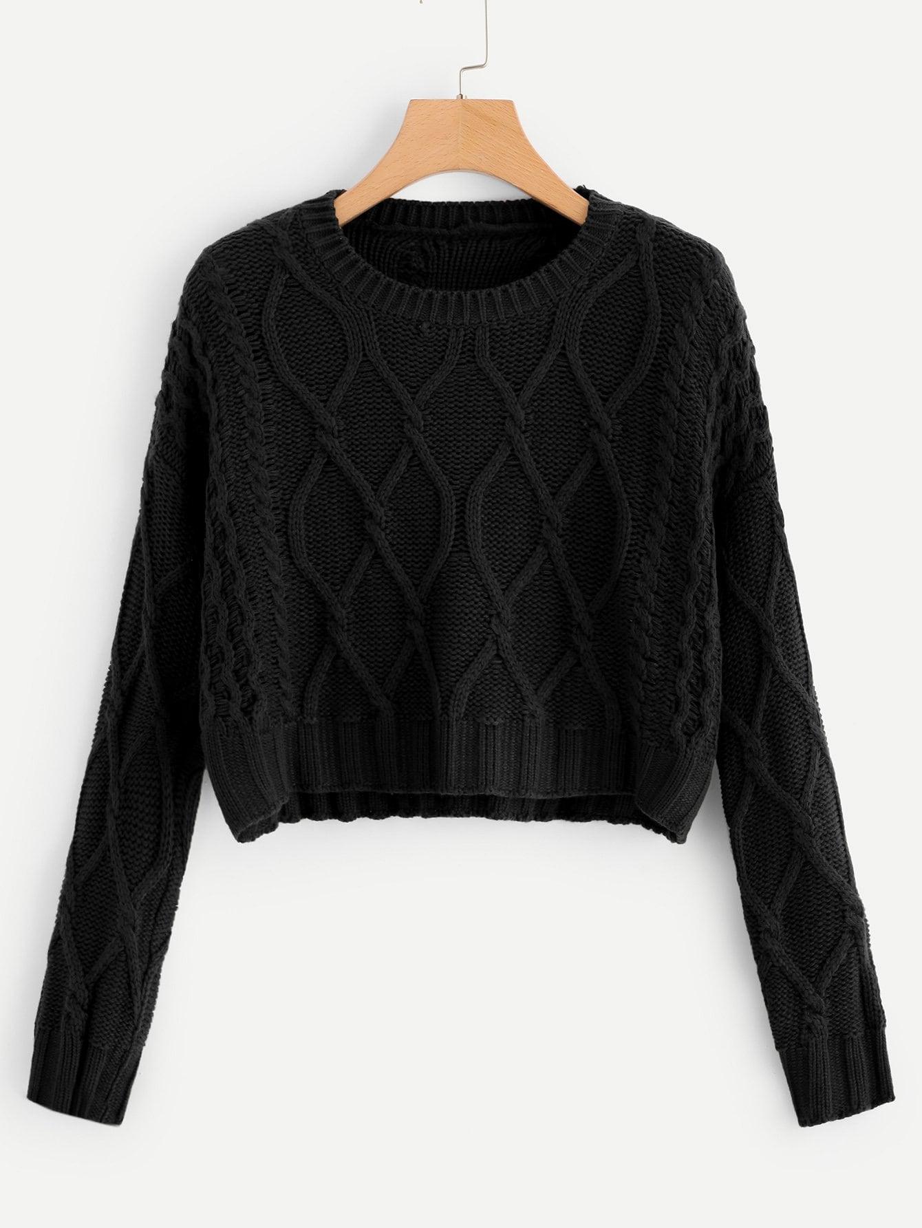 Смешанный однотонный свитер