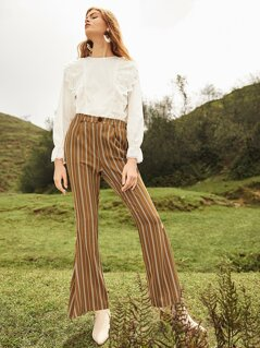 Flare Leg Striped Pants