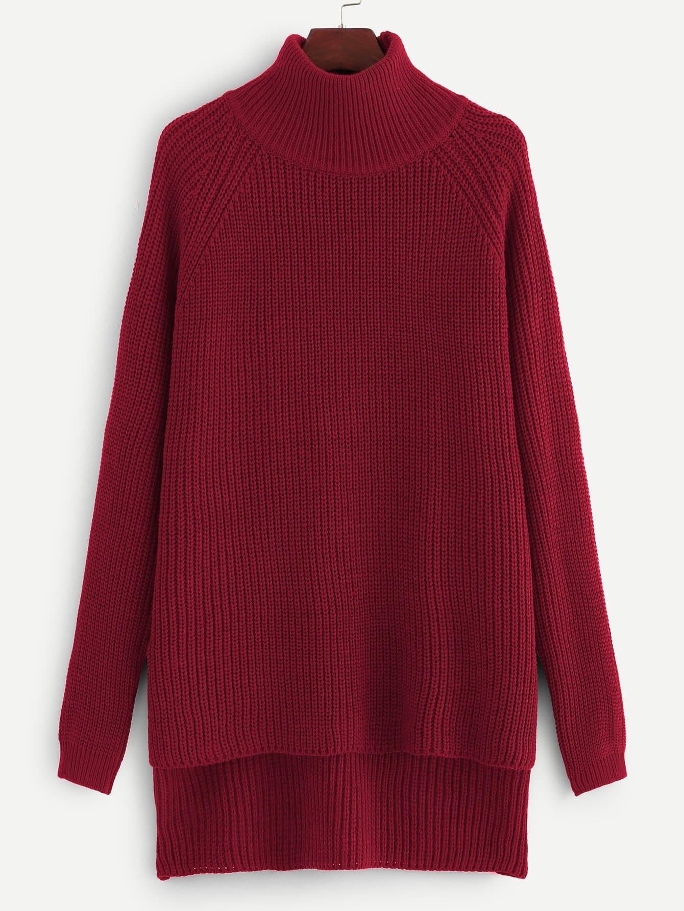 Купить Стильный свитер с асимметричным низом размера плюс, null, SheIn