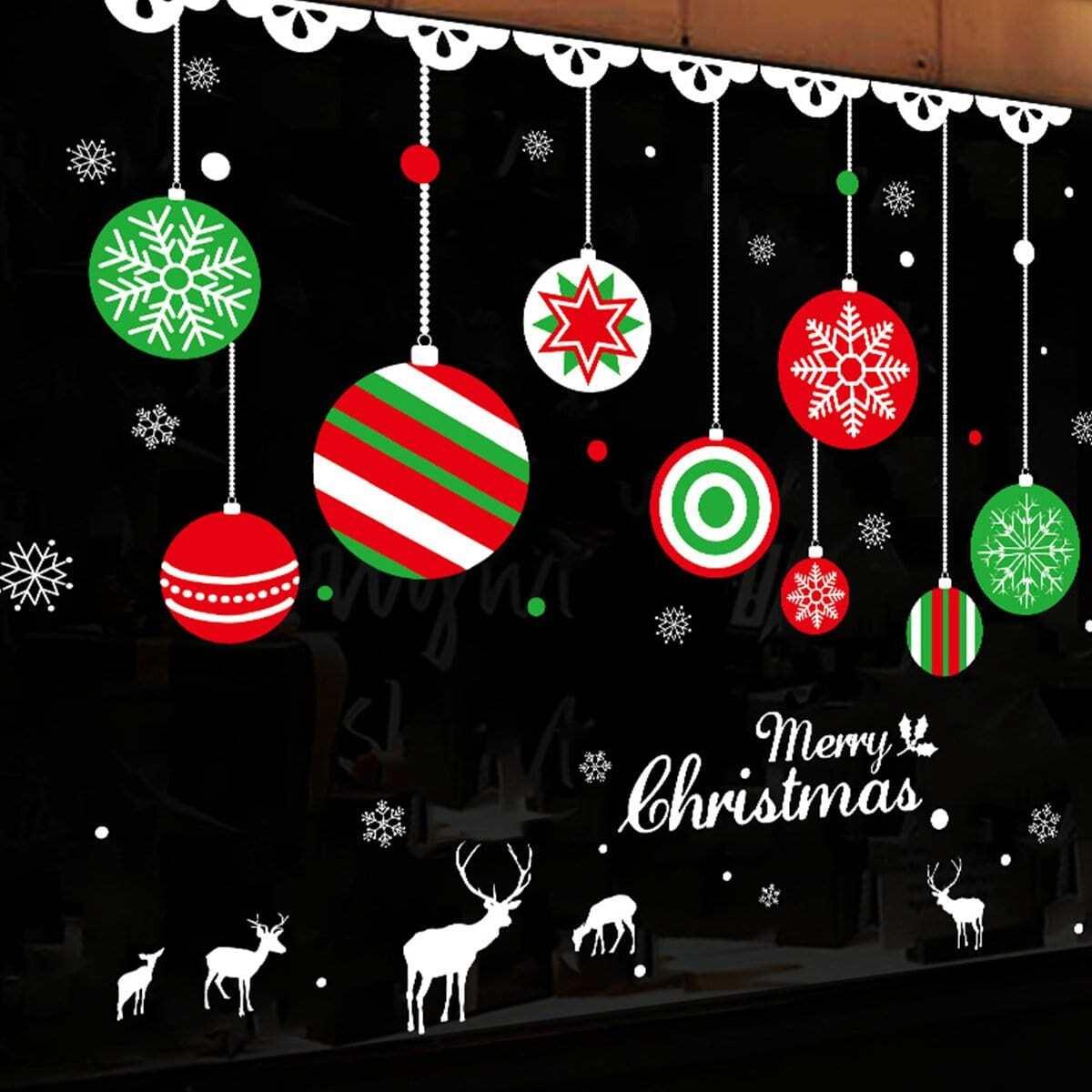 Sticker met muurpatroon voor kerstbal 1pc