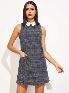 Contrast Collar Shell Dress