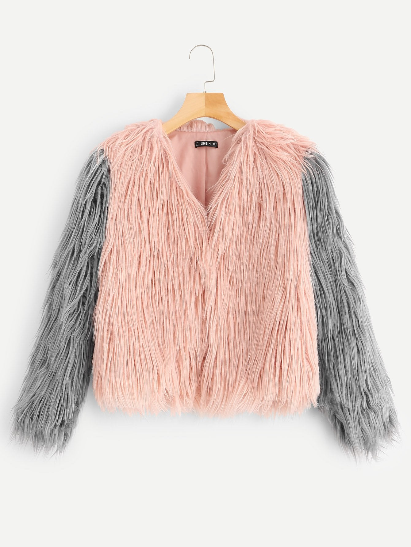 Купить Открытое пальто из искусственных кож, null, SheIn