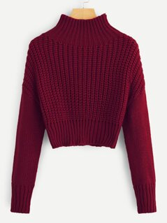Drop Shoulder Crop Jumper