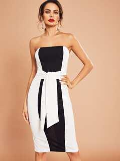 Two Tone Cut And Sew Dress