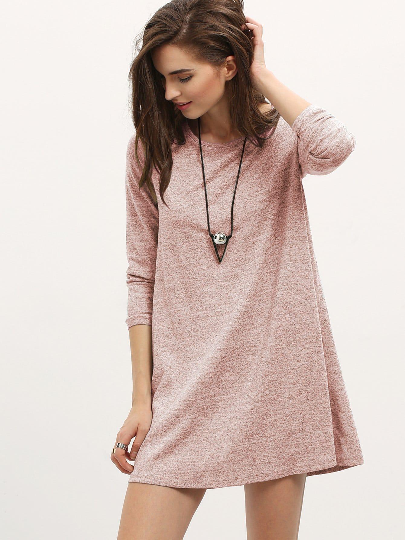 cd6badf9d8d2 Marled Slouchy T-shirt Dress | SHEIN UK