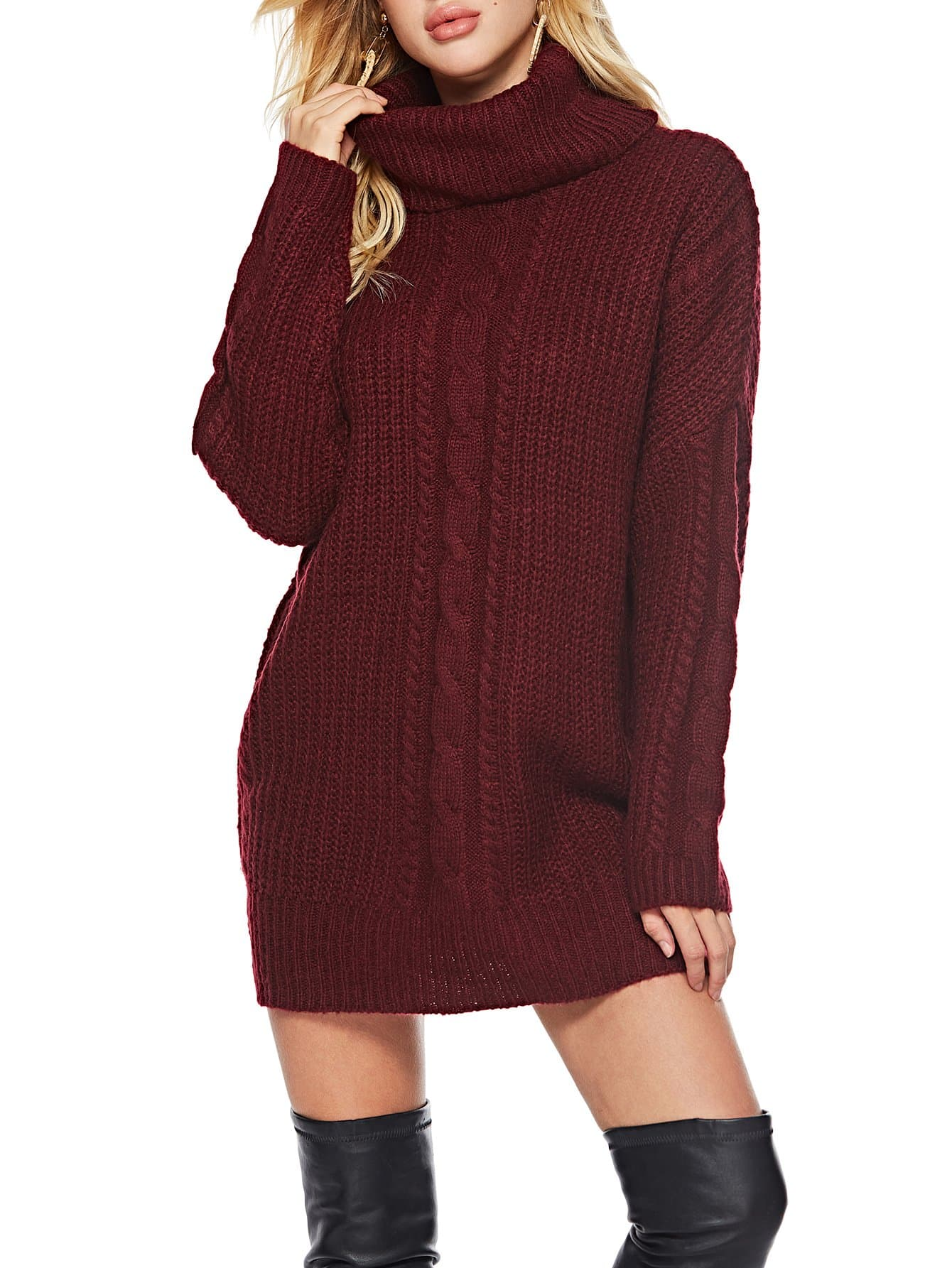 Купить Стильный свитер с высоким вырезом, Kate C, SheIn