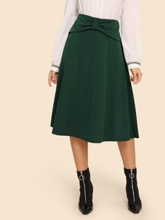 Bow Front Flare Skirt