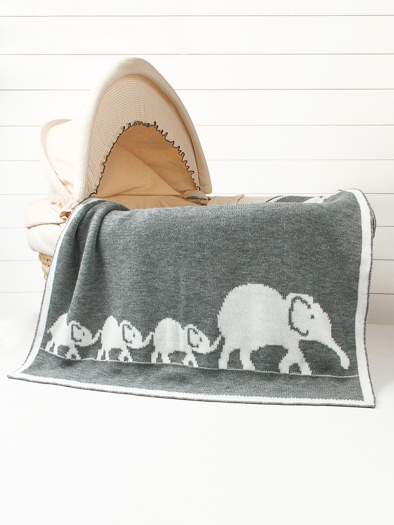 Купить Одеяло с принтом слона 1 шт для детей, null, SheIn