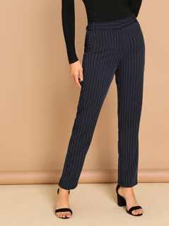 Pin Stripe Skinny Tuxedo Trouser Pants