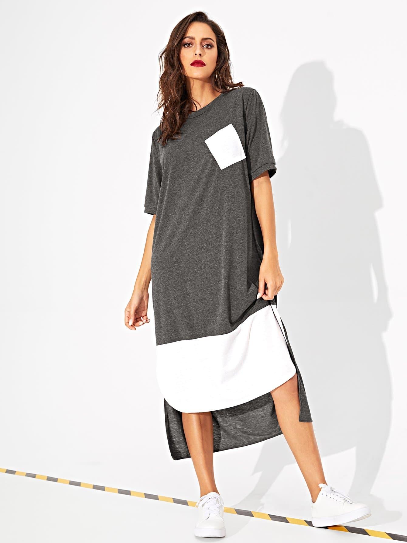 Купить Асимметричное длинное платье, Mary P., SheIn