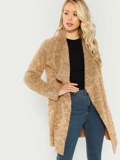 Waterfall Collar Teddy Coat