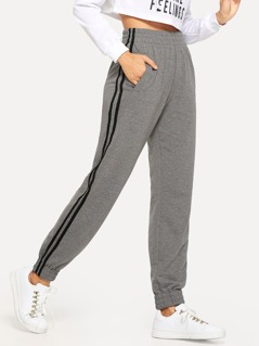 Slant Pocket Contrast Sideseam Sweatpants