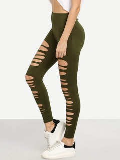 Destroyed Stretchy Leggings