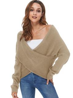 Crisscross V Neck Sweater