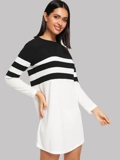 Color Block Tunic Dress