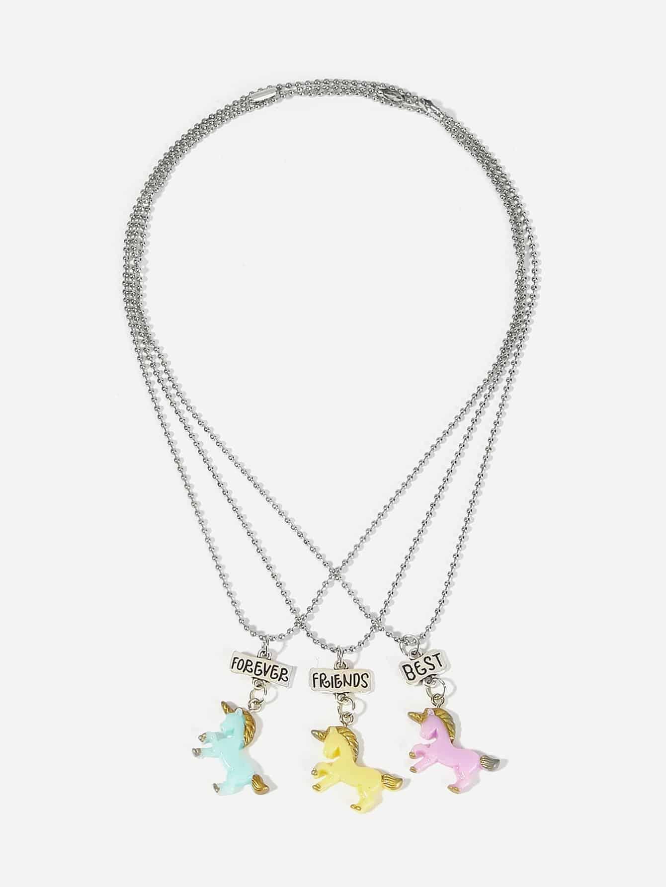 Купить Комплект ожерелья для подвески для животных животных 3шт., null, SheIn
