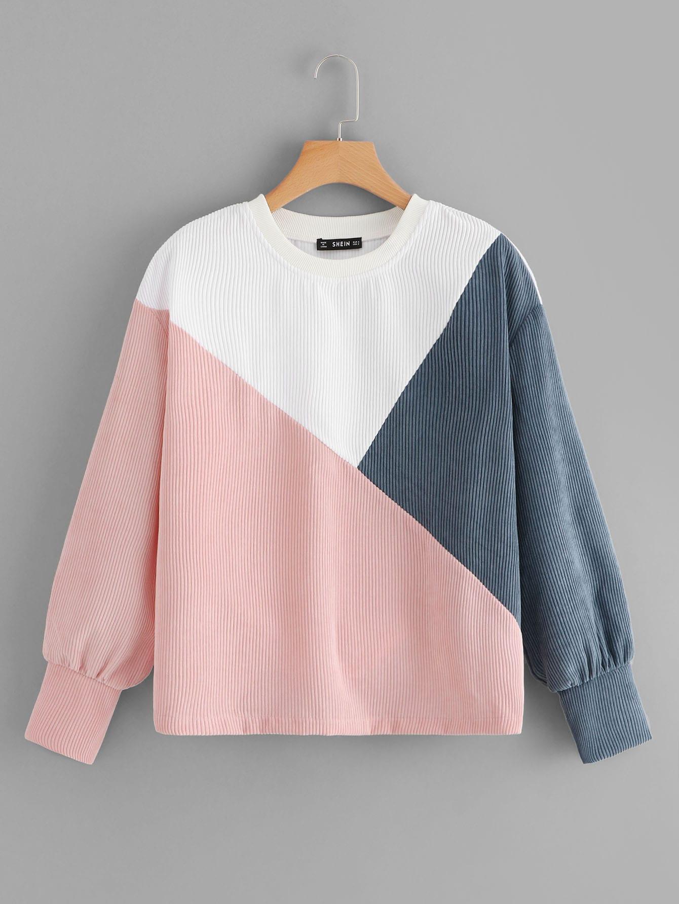 Фото - Кроит и шить пуловер от SheIn цвет многоцветный