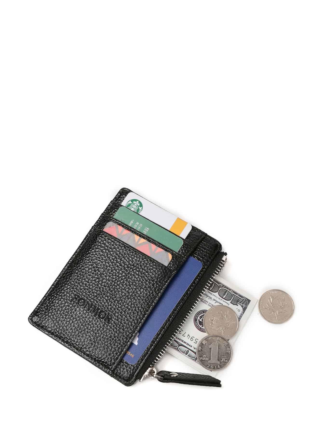 Купить Мужский кожаный кошелёк с тисненым, null, SheIn