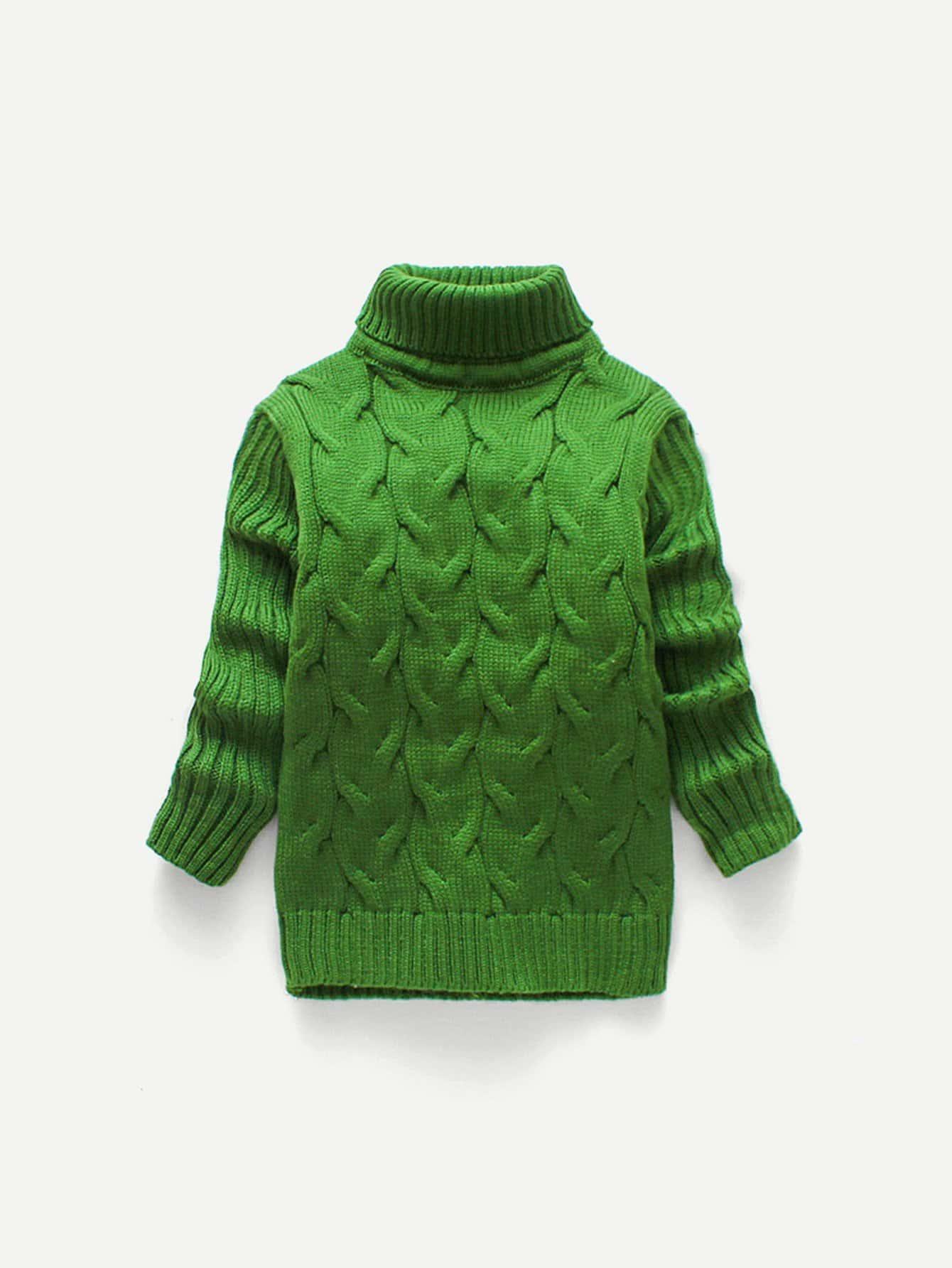 Купить Вязаный однотонный свитер для маленьких мальчиков, null, SheIn