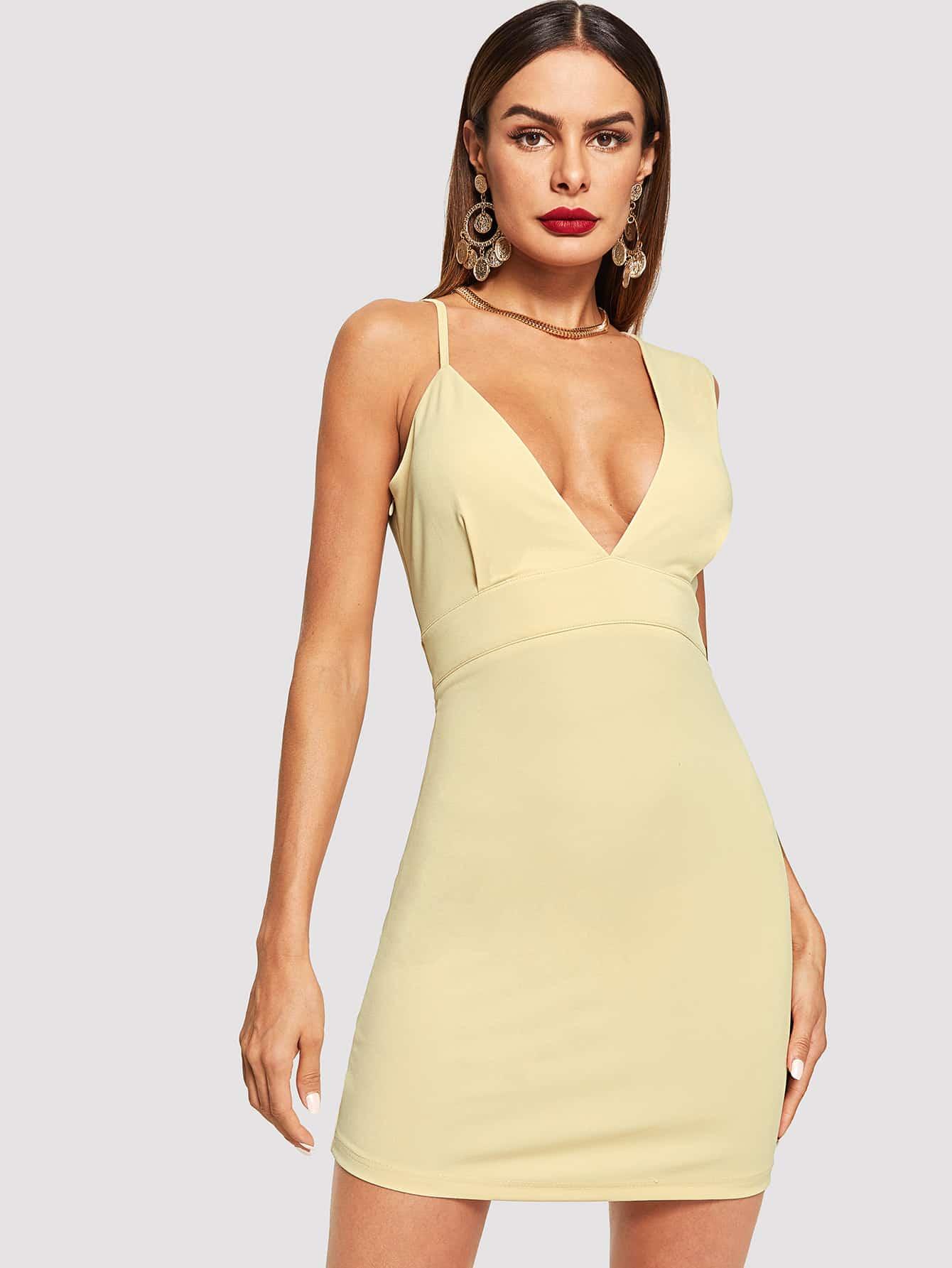 Купить Платье с асимметричным вырезом, Andy, SheIn