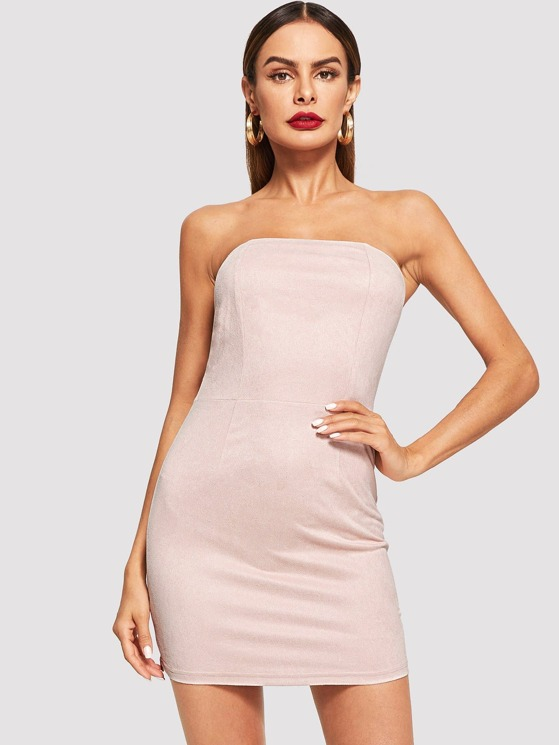 49a884a178 Solid Bodycon Tube Dress