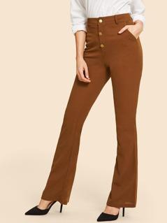 80s Flare Hem Button Up Pants