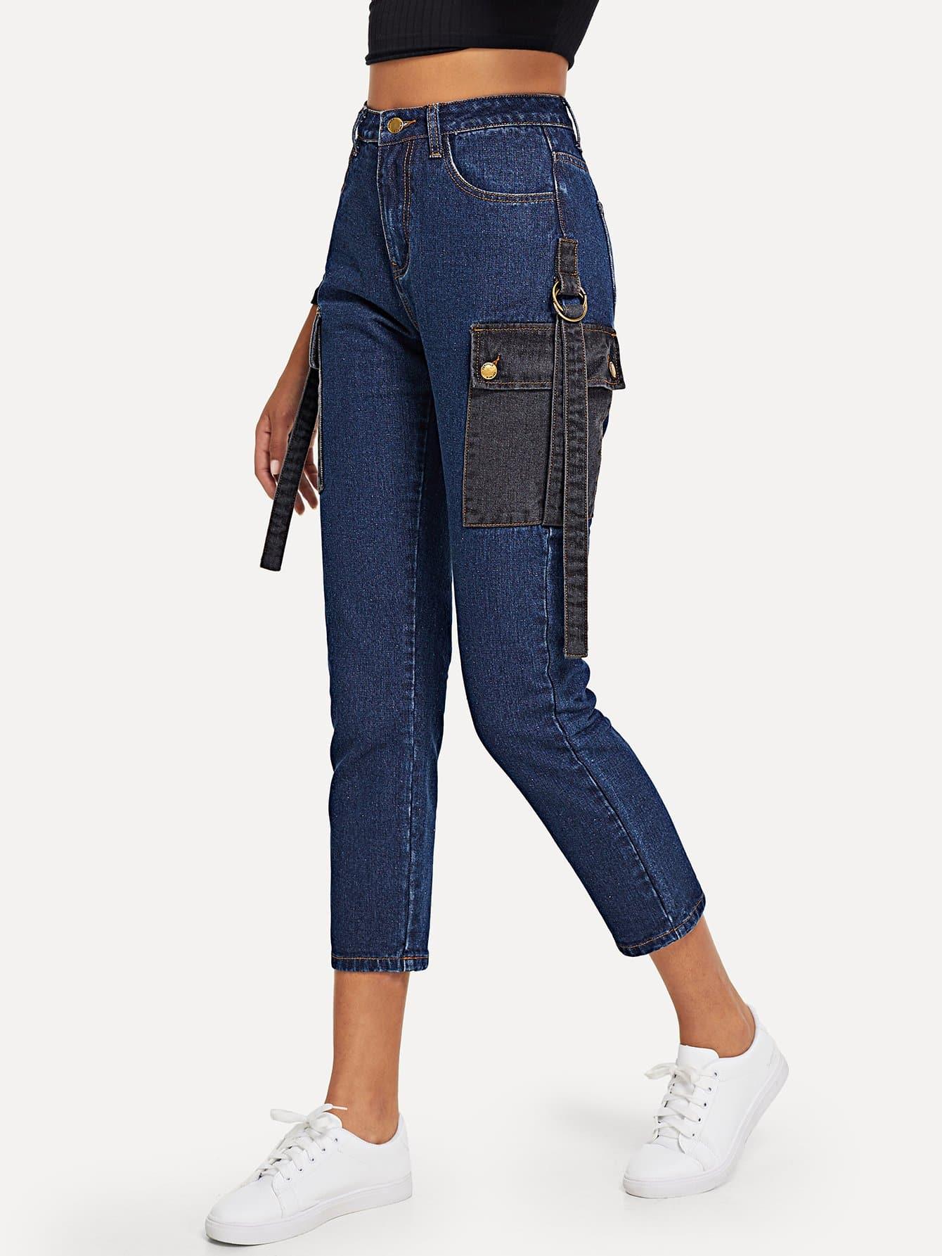 Купить Облегающие брюки с карманом, Elaine, SheIn