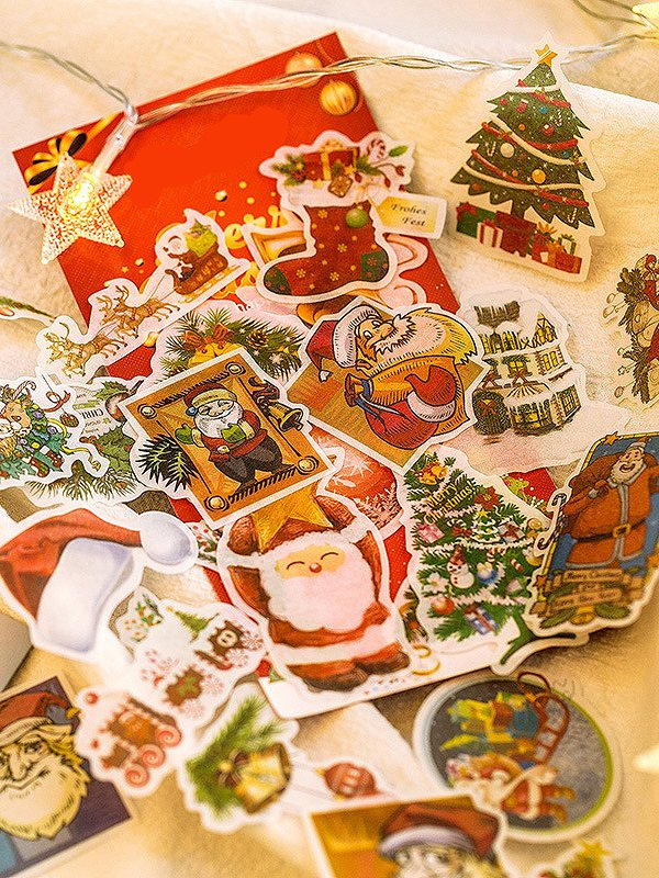 Купить Рождественские наклейки 60 шт, null, SheIn