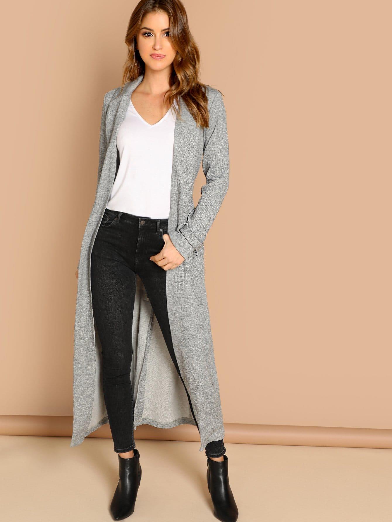 Купить Открытой передней длинное платье с карманом, Gigi Paris, SheIn