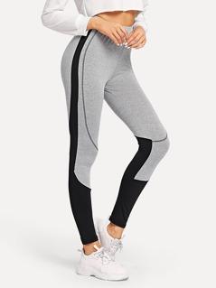 Contrast Tipping Skinny Leggings