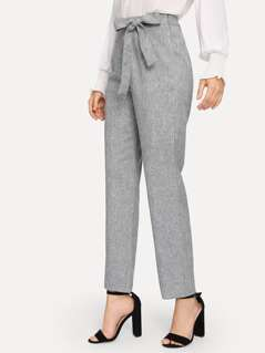 Wide Waistband Marled Pants