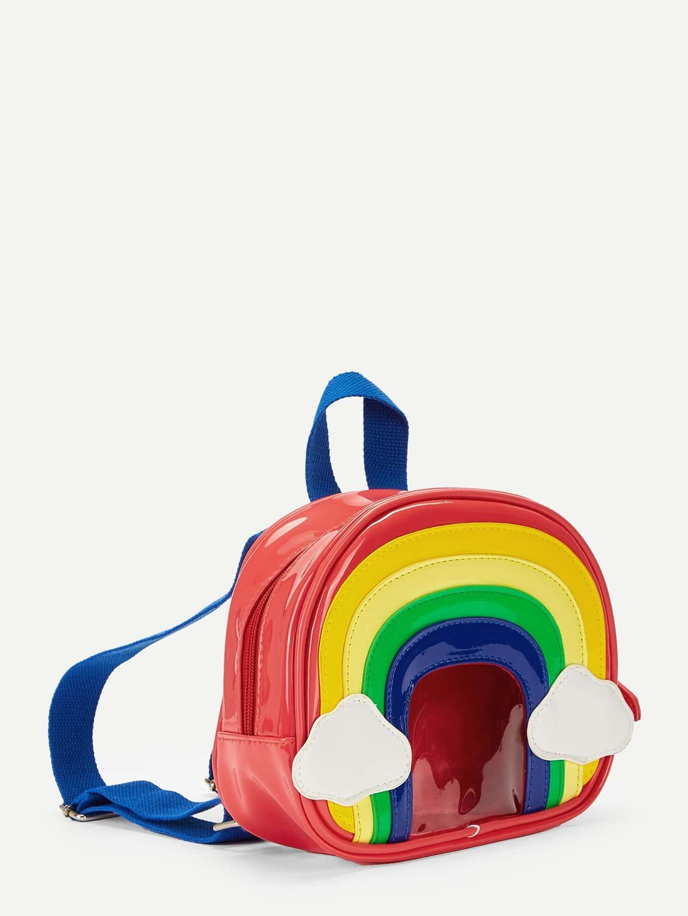 Купить Детский радужный рюкзак сумка, null, SheIn