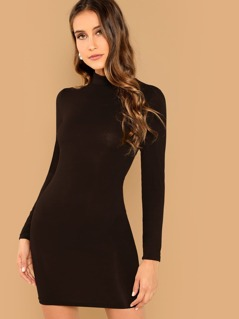 Solid Bodycon Dress
