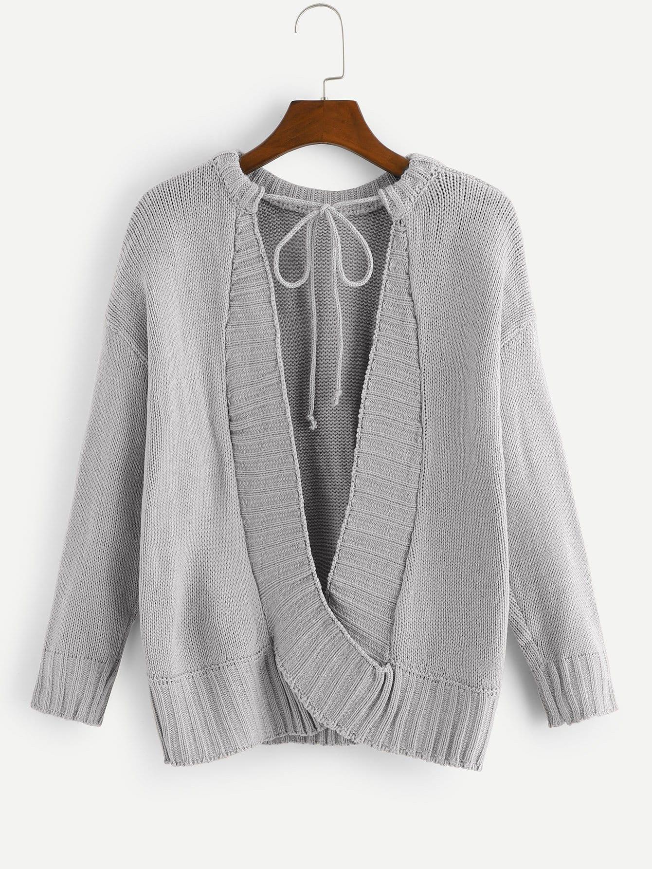 Фото - Однотонный свитер от SheIn серого цвета