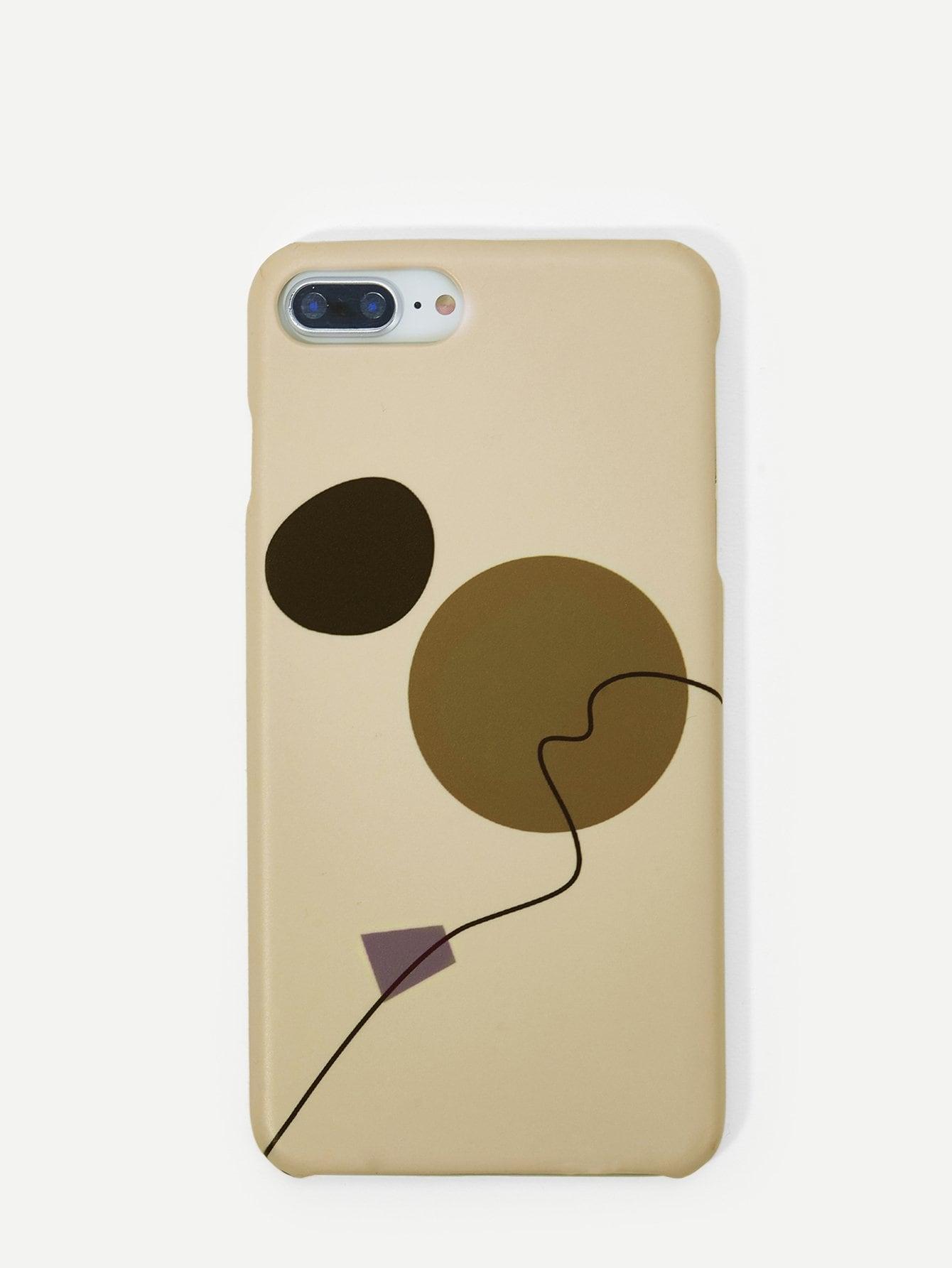 Купить Чехол для iPhone с принтом круга и линия, null, SheIn